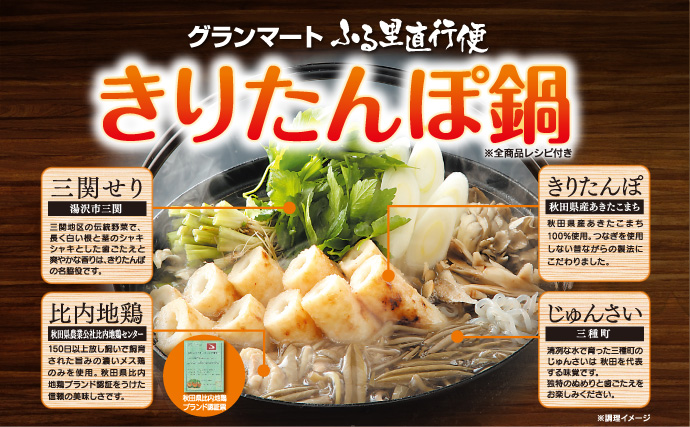 きりたんぽ鍋セットオンラインショプリンク